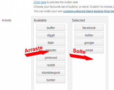 Configurar plugin Simple Share Buttons Adder