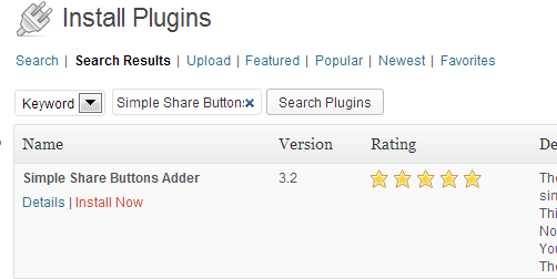 Instalando o Plugin Simple Share Buttons Adder no WordPress