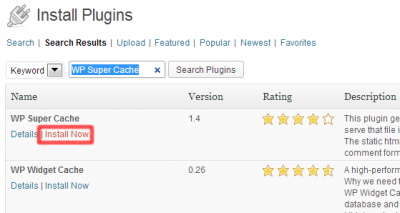 Instalar Plugin WP Super Cache