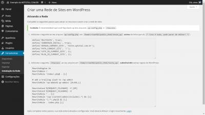 wordpress multisite alterando arquivos