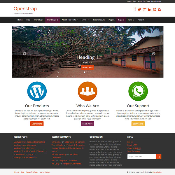 tema openstrap wordpress screenshot