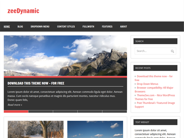 zeeDynamic - Tema Free para WordPress