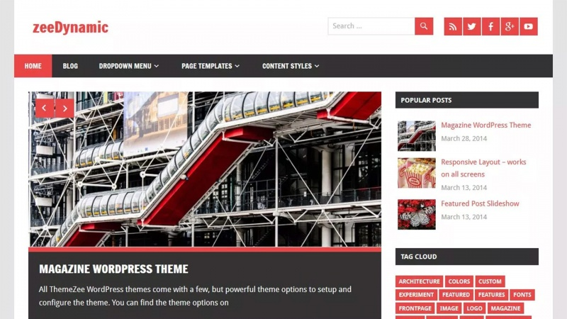 zeedynamic tema free para wordpress