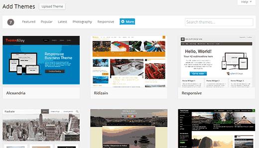 Adicionar nova tela tema em WordPress 3.9