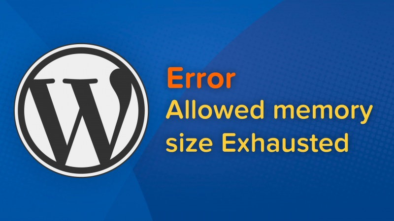 como resolver erro allowed memory size exhausted wordpress