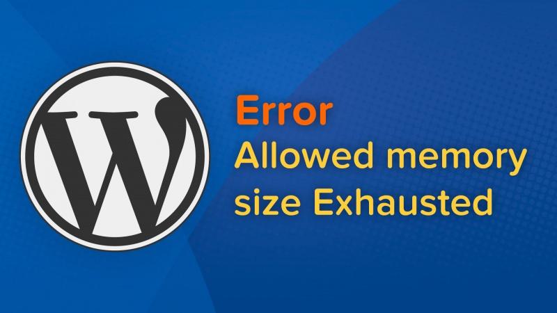 como resolver erro allowed memory size exhausted wordpress