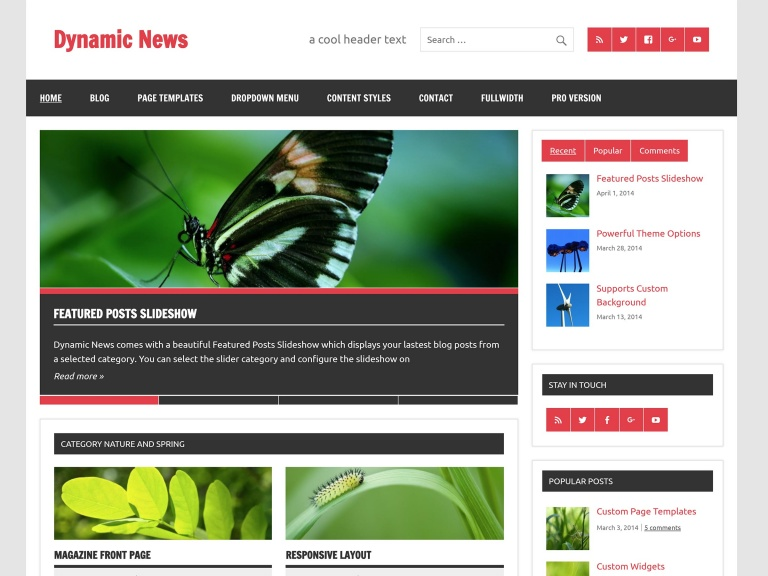 dynamicnews tema free wordpress