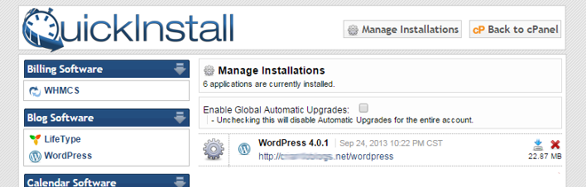 WordPress - QuickInstall