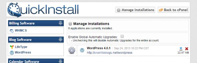 WordPress - QuickInstall