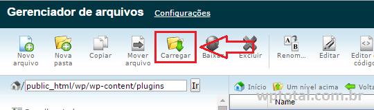 carregar plugin via gerenciador de arquivos