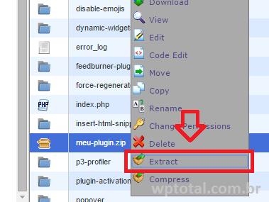 extrair plugin do wordpress
