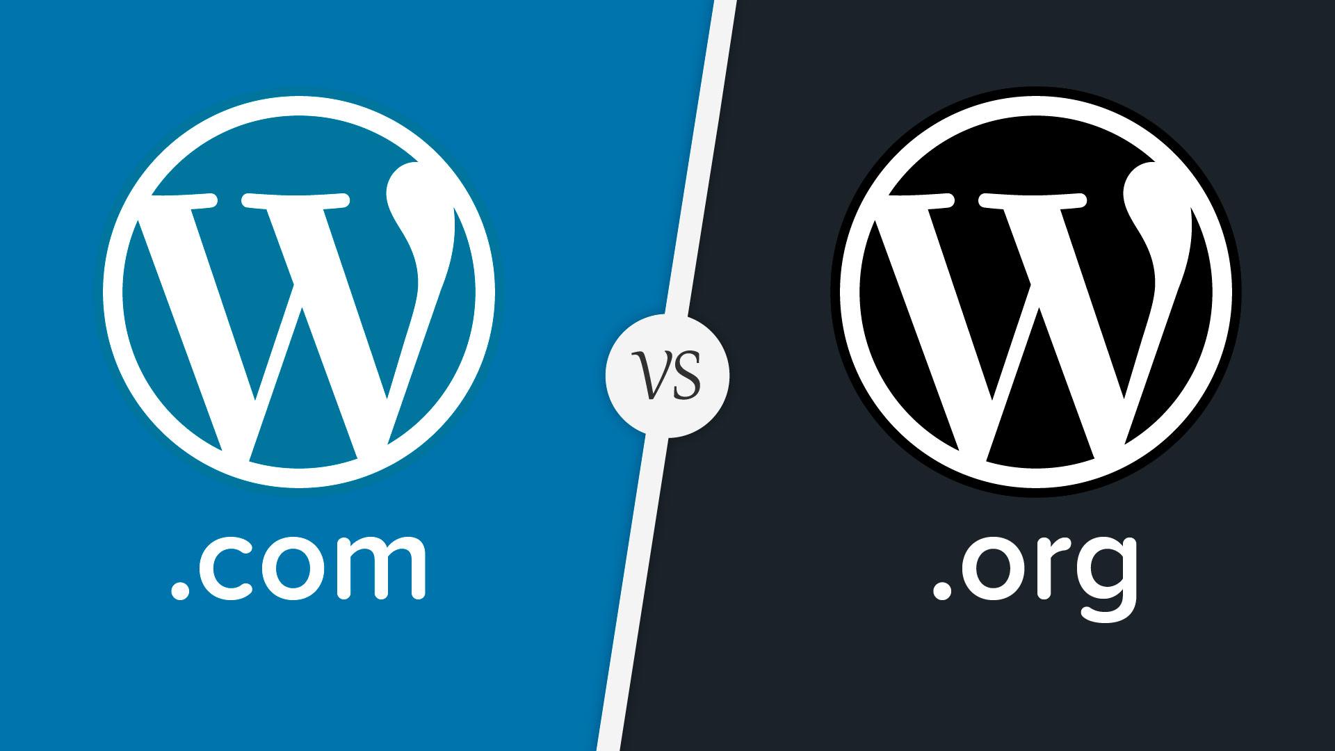comparação wordpress org vs wordpress com