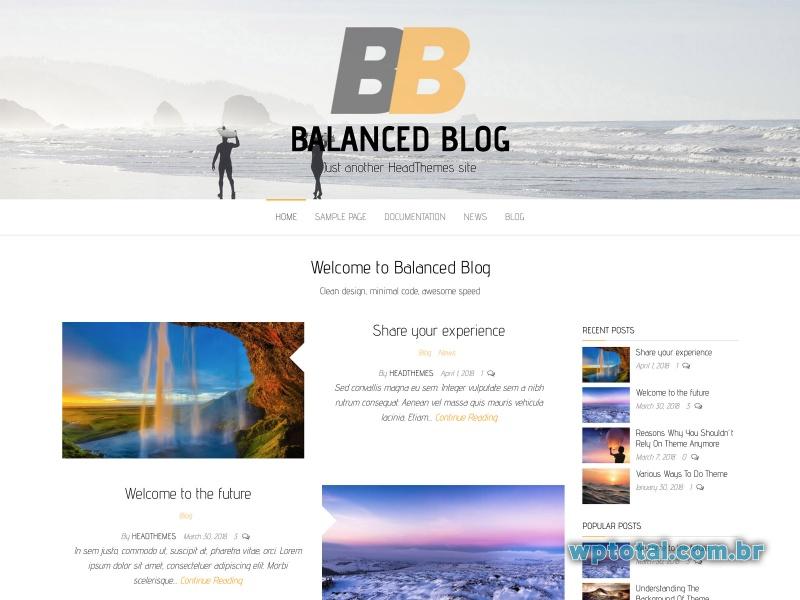 balanced blog tema
