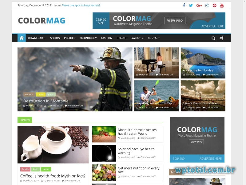colormag tema wordpress gratuito
