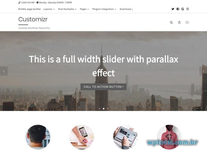 customizr temas wordpress