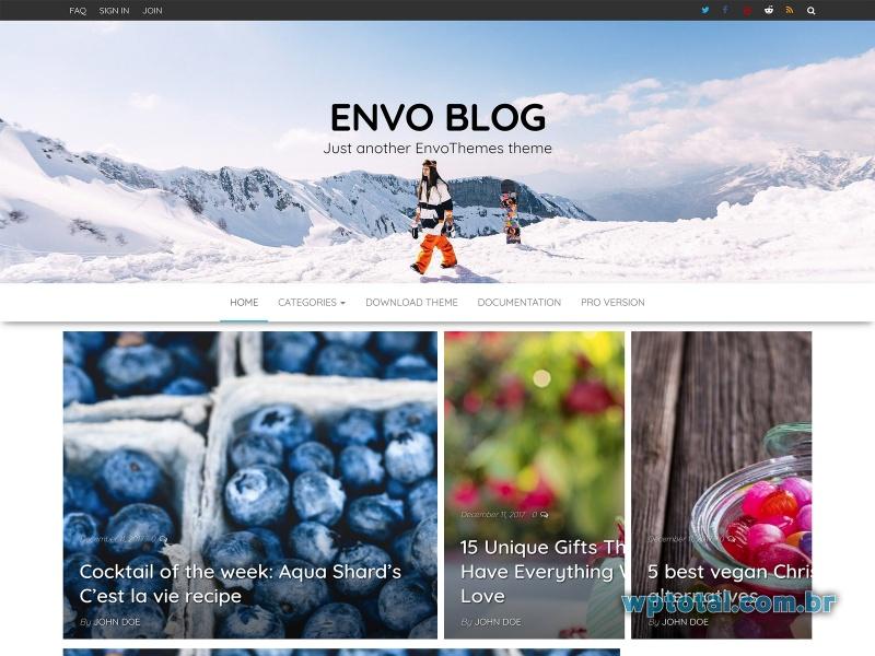 envo blog tema