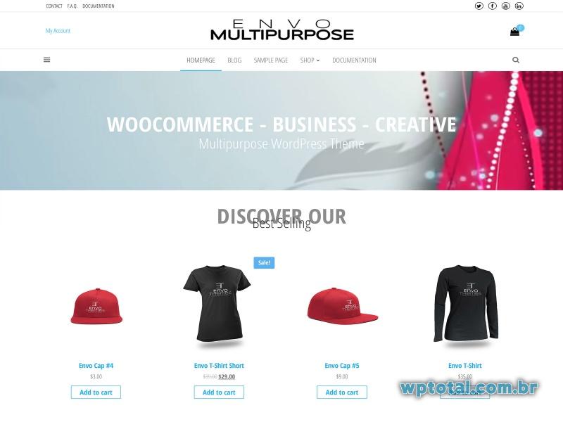 envo multipurpose wordpress theme