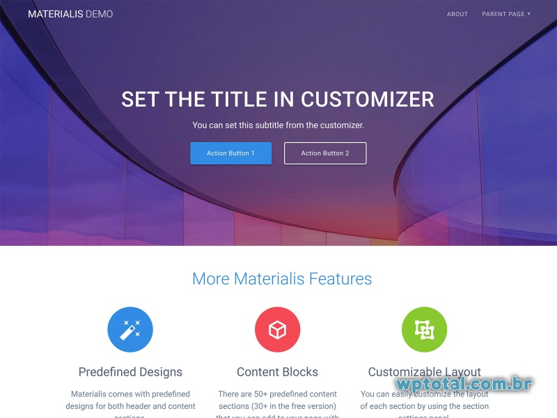materialis theme wordpress
