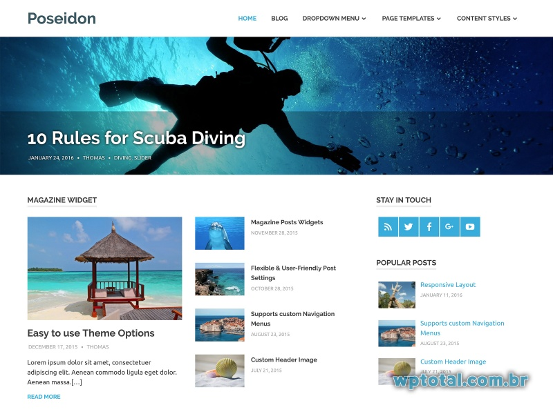 poseidon template wordpress