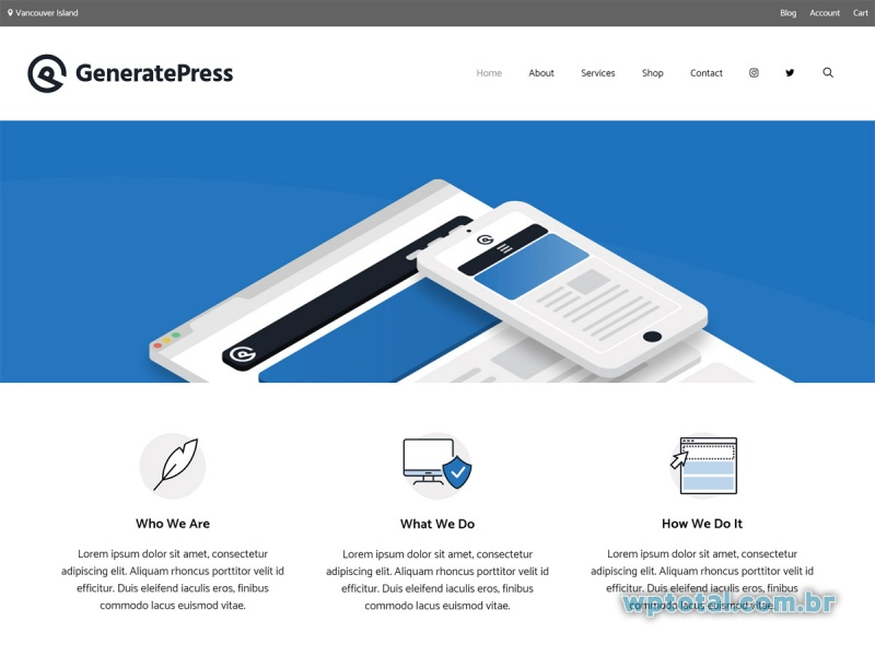 temas grátis wordpress GeneratePress