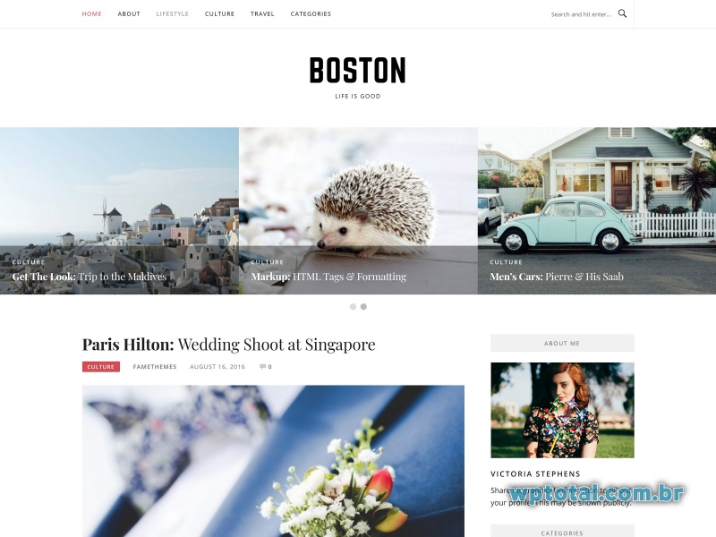 temas wordpress boston