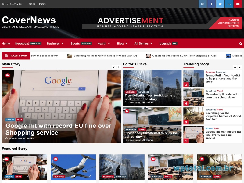 temas wordpress covernews