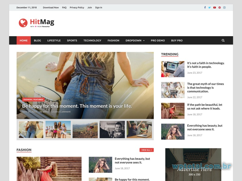 template wordpress hitmag