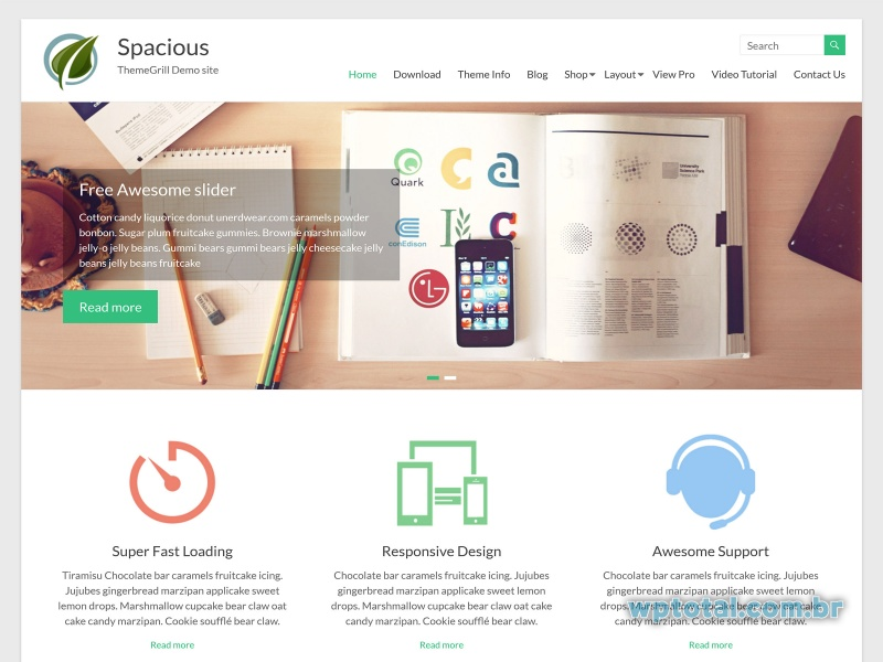 theme spacious wordpress