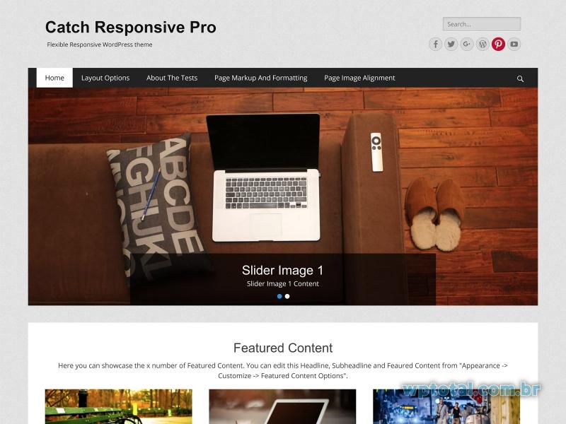 theme wordpresss catch responsive