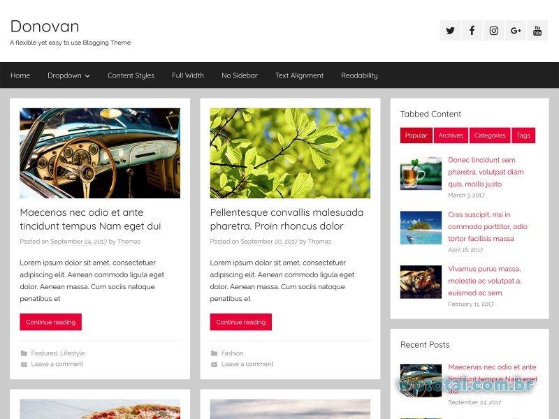 wordpress tema donovan