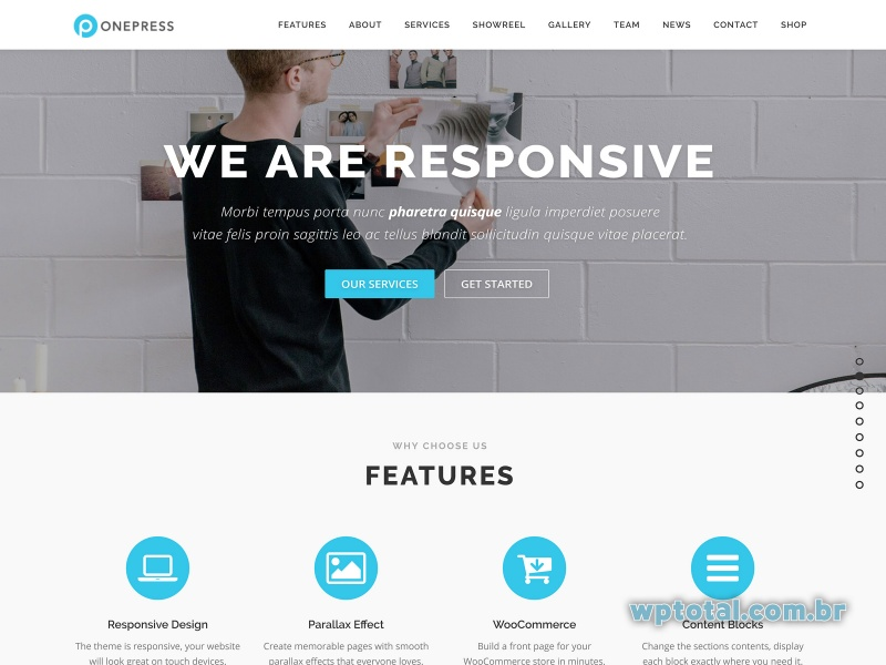 wordpress tema onepress