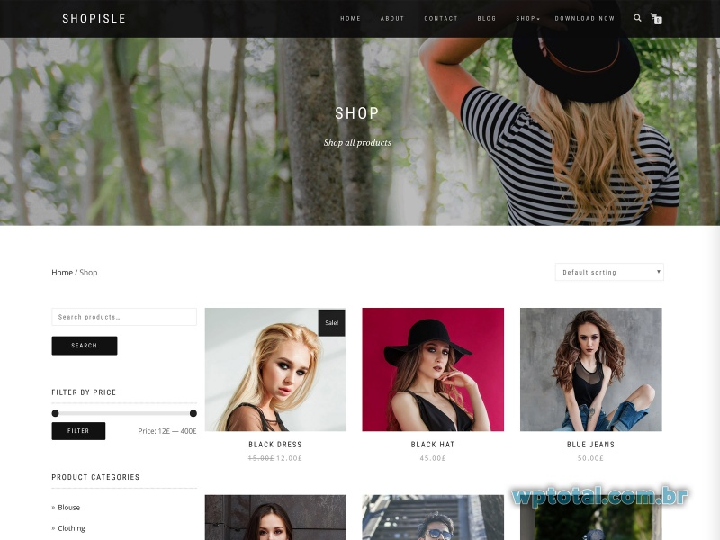 wordpress tema shop isle