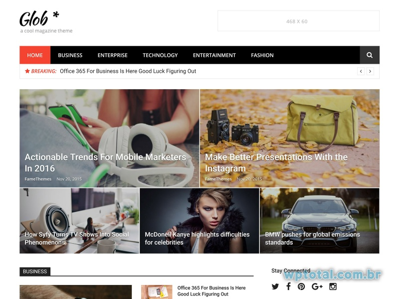 wordpress theme glob