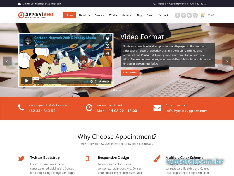 wordpress themes appointment