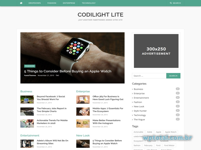 wordpress themes codilight lite