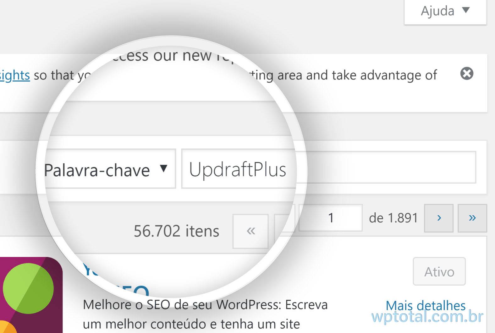 pesquisando plugin de backup wordpress para google drive
