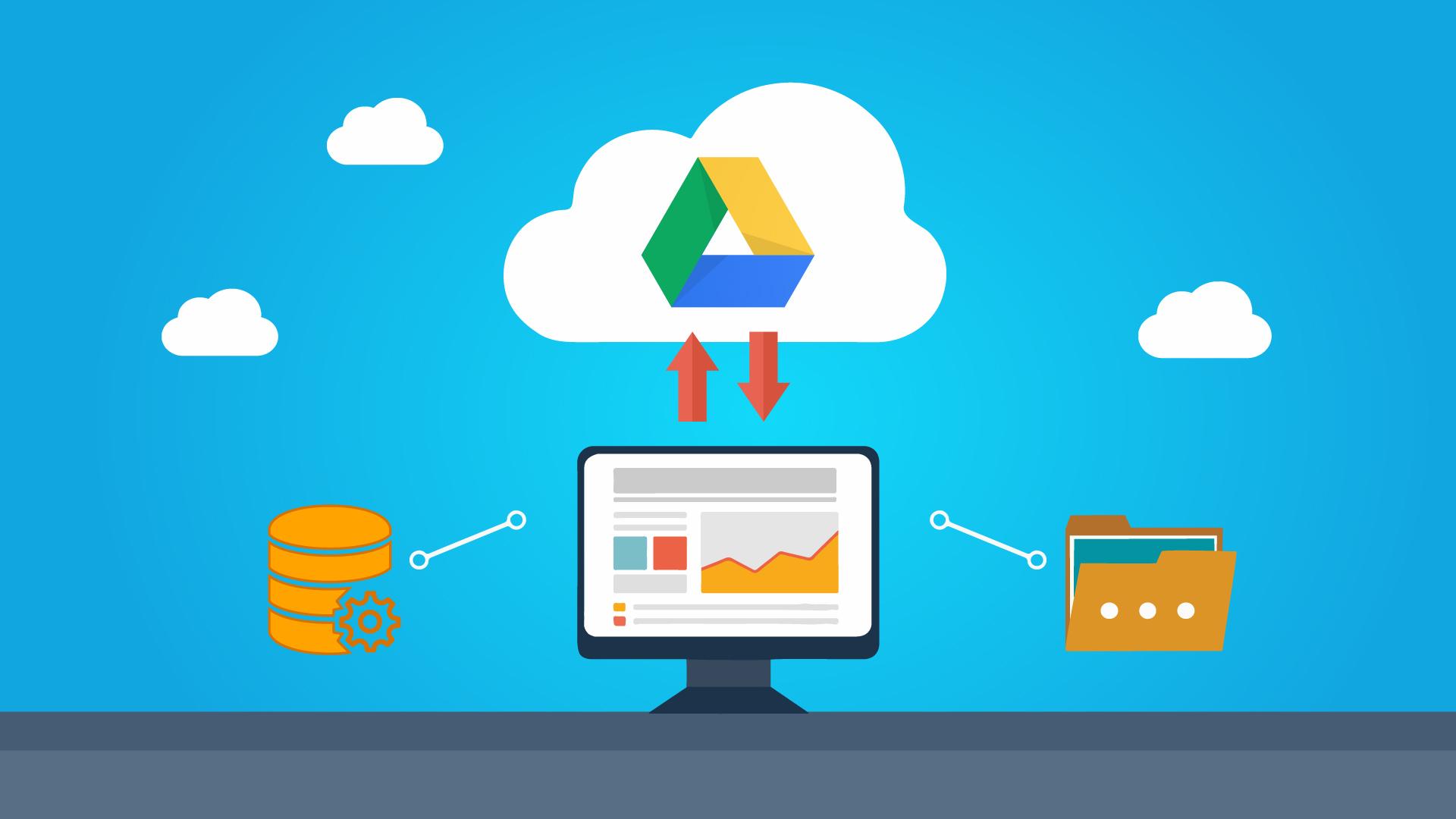 wordpress backup para o google drive