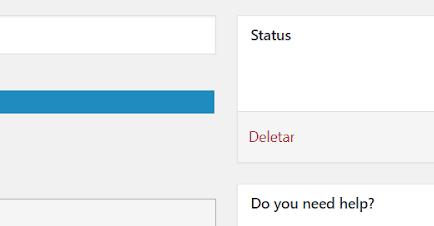deletar formulário de contato