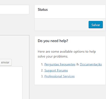 salvar formulario de contato