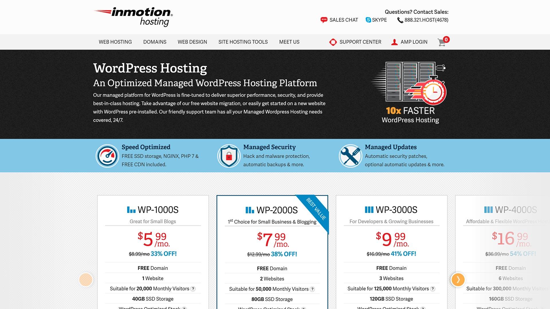 hospedagem wordpress inmotionhosting