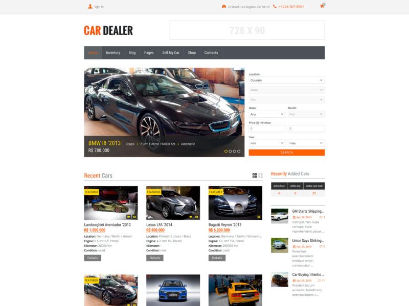 cardealer wordpress tema para loja virtual