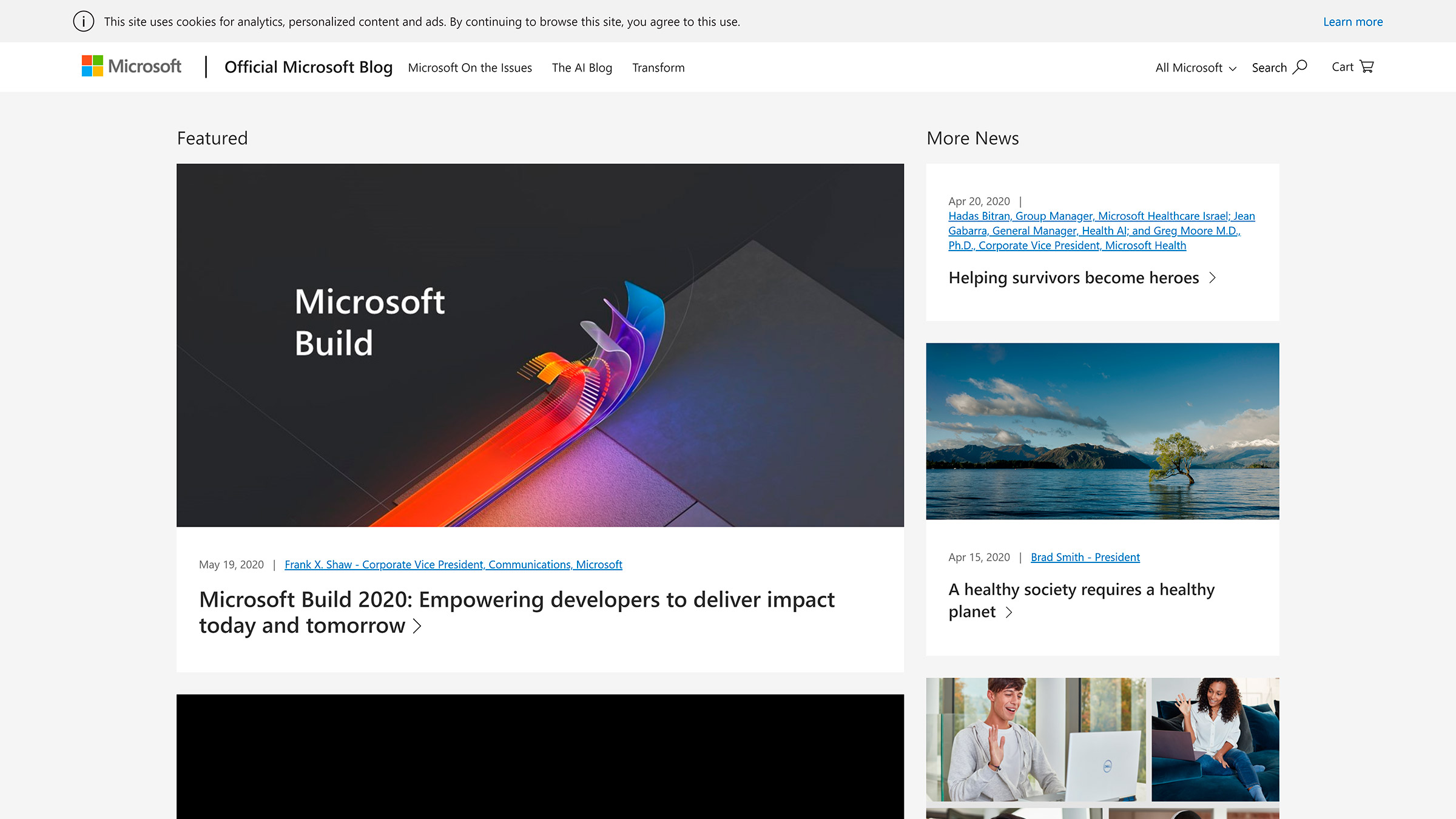 site desenvolvido com wordpress microsoft