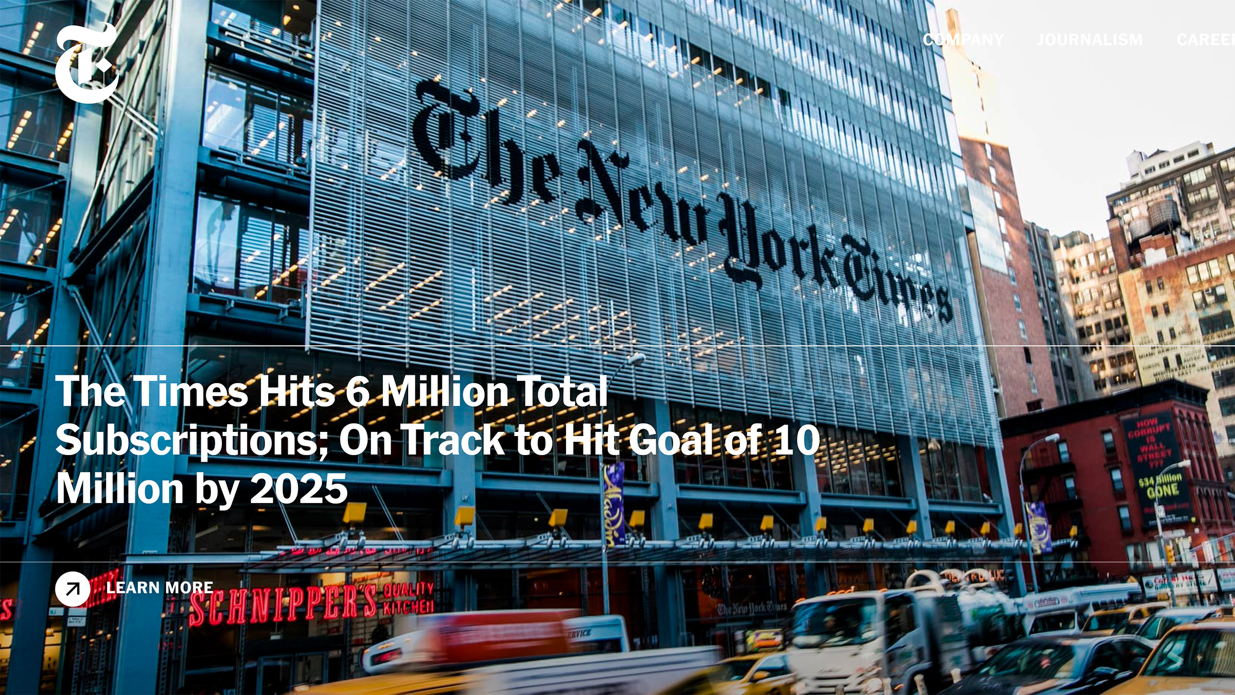 site desenvolvido com wordpress new york times
