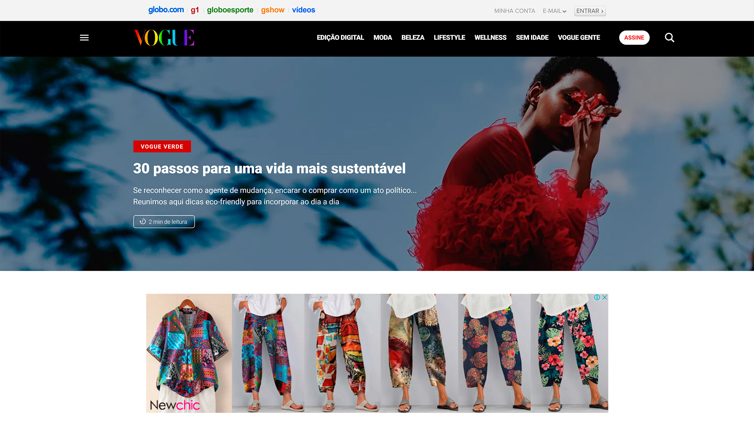 site desenvolvido com wordpress vogue