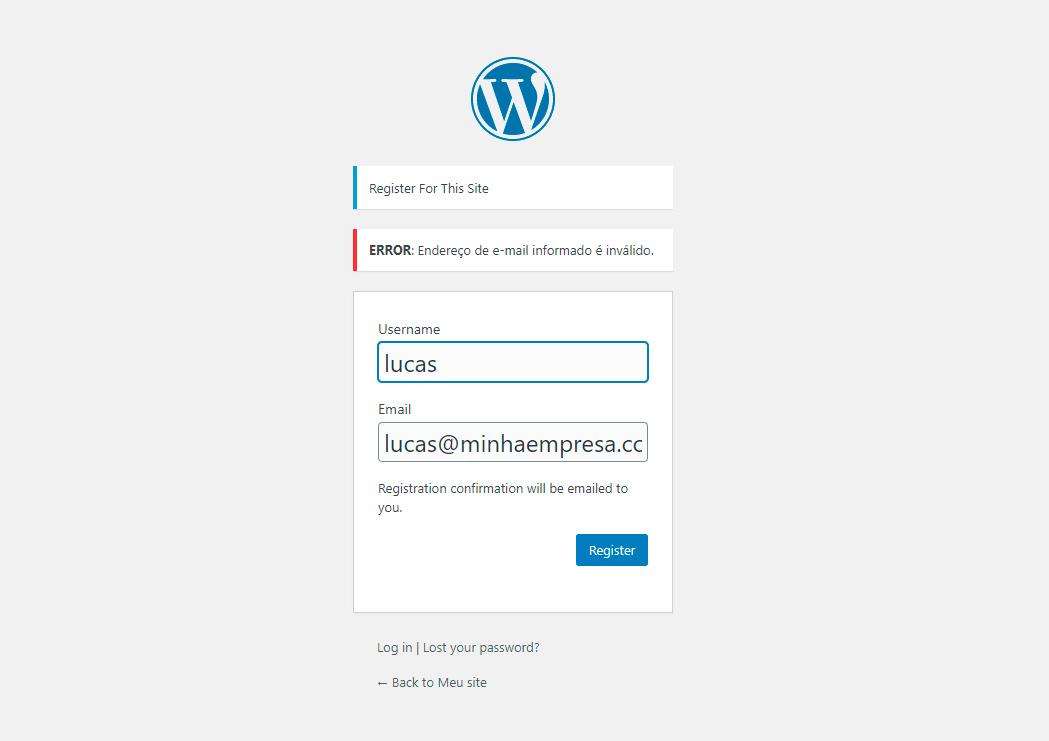 area de membros cadastrado com validacao de e mail