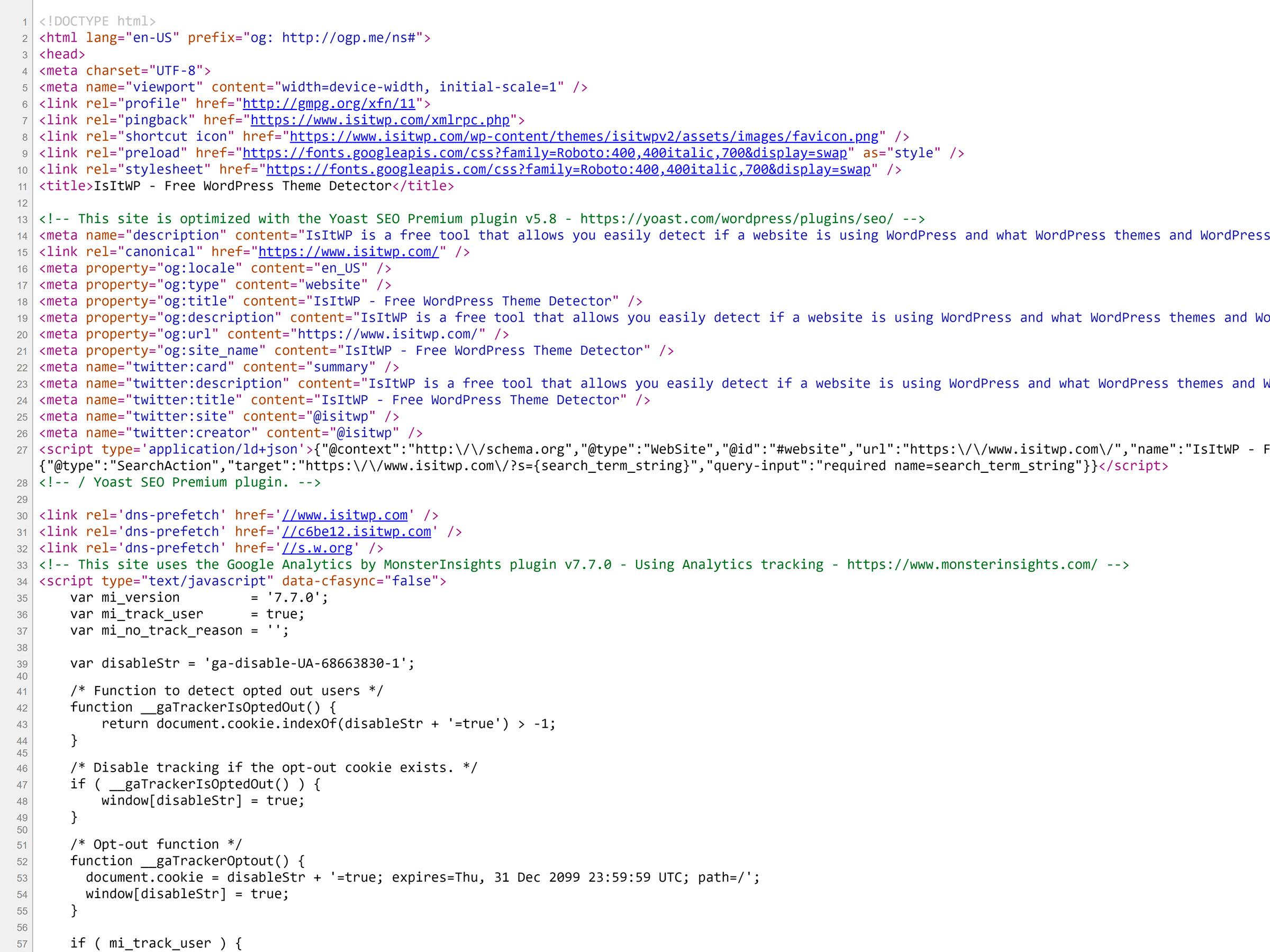 como saber se o site usa wordpress