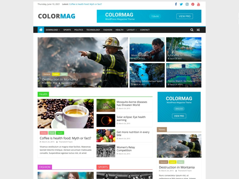 colormag template