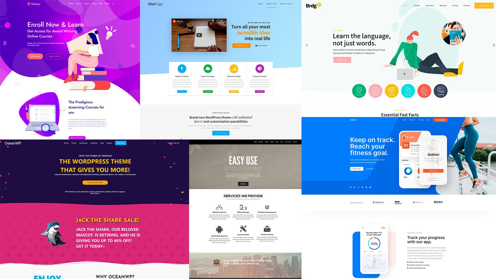 Temas One Page WordPress