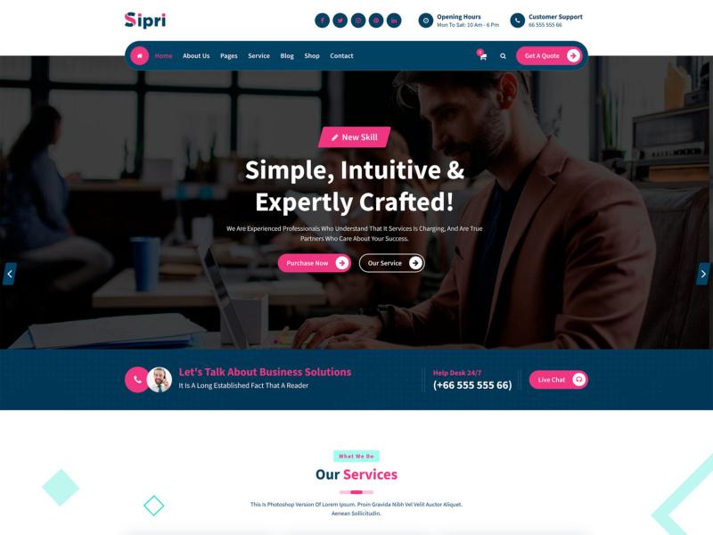 template wordpress Sipri